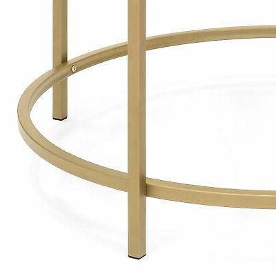 BCP 36in Coffee Table w/ Satin Gold