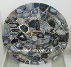 Beautiful Gemstone Gray Agate Coffee Table Top For Room Cent