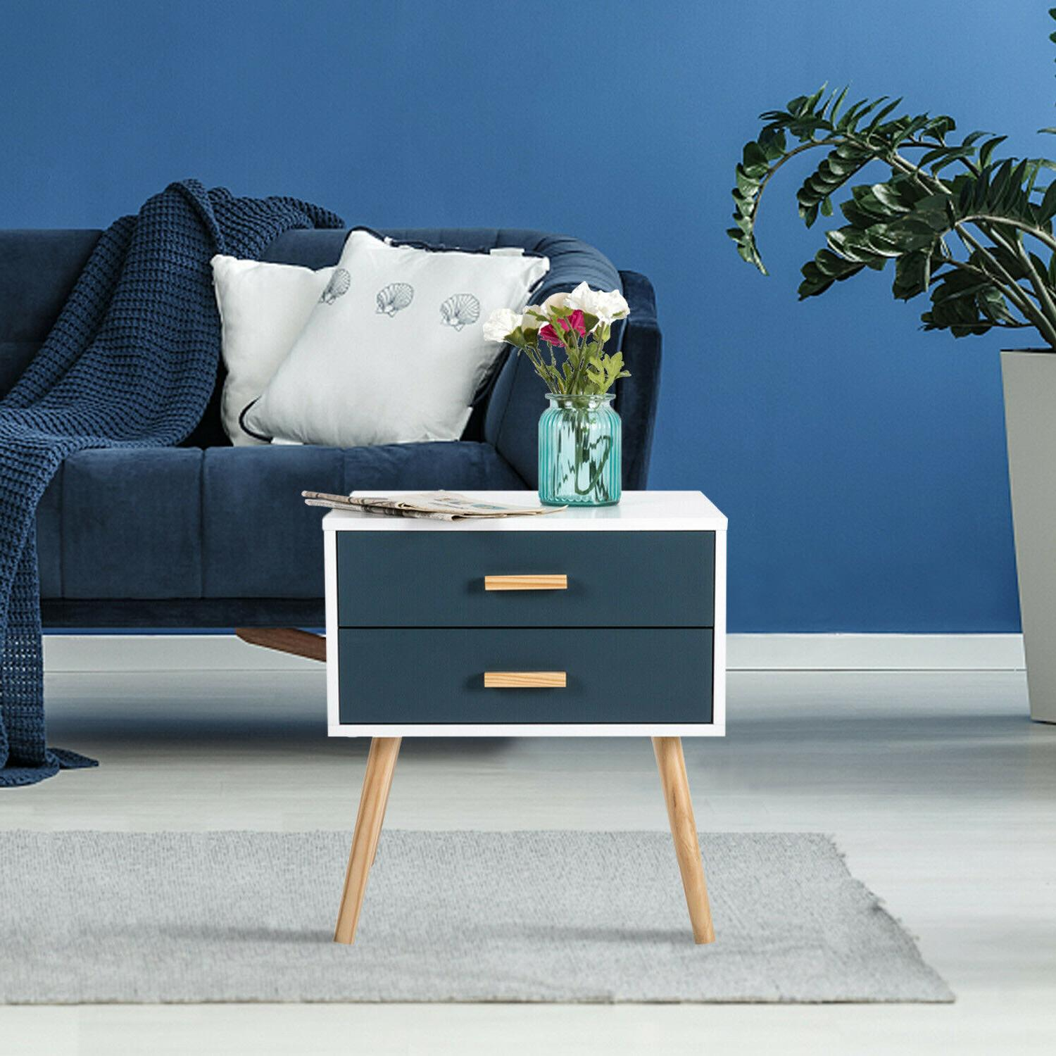 Bedroom Nightstand Bedside End Table Cabinet Sofa Side Coffe