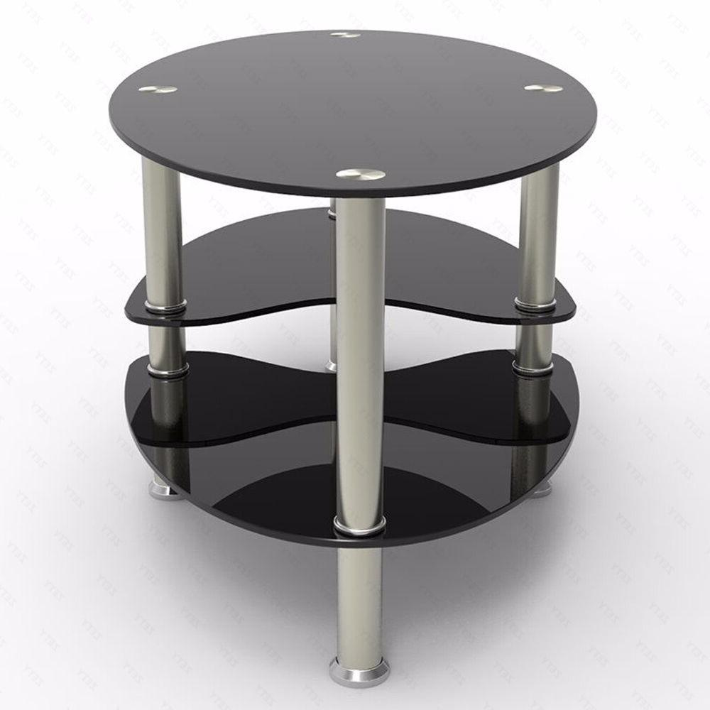 Black Side Coffee Table Base Living Room