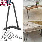 "Black Hairpin Coffee Table Leg 3/8"" Solid Steel DIY 2 Rods T"