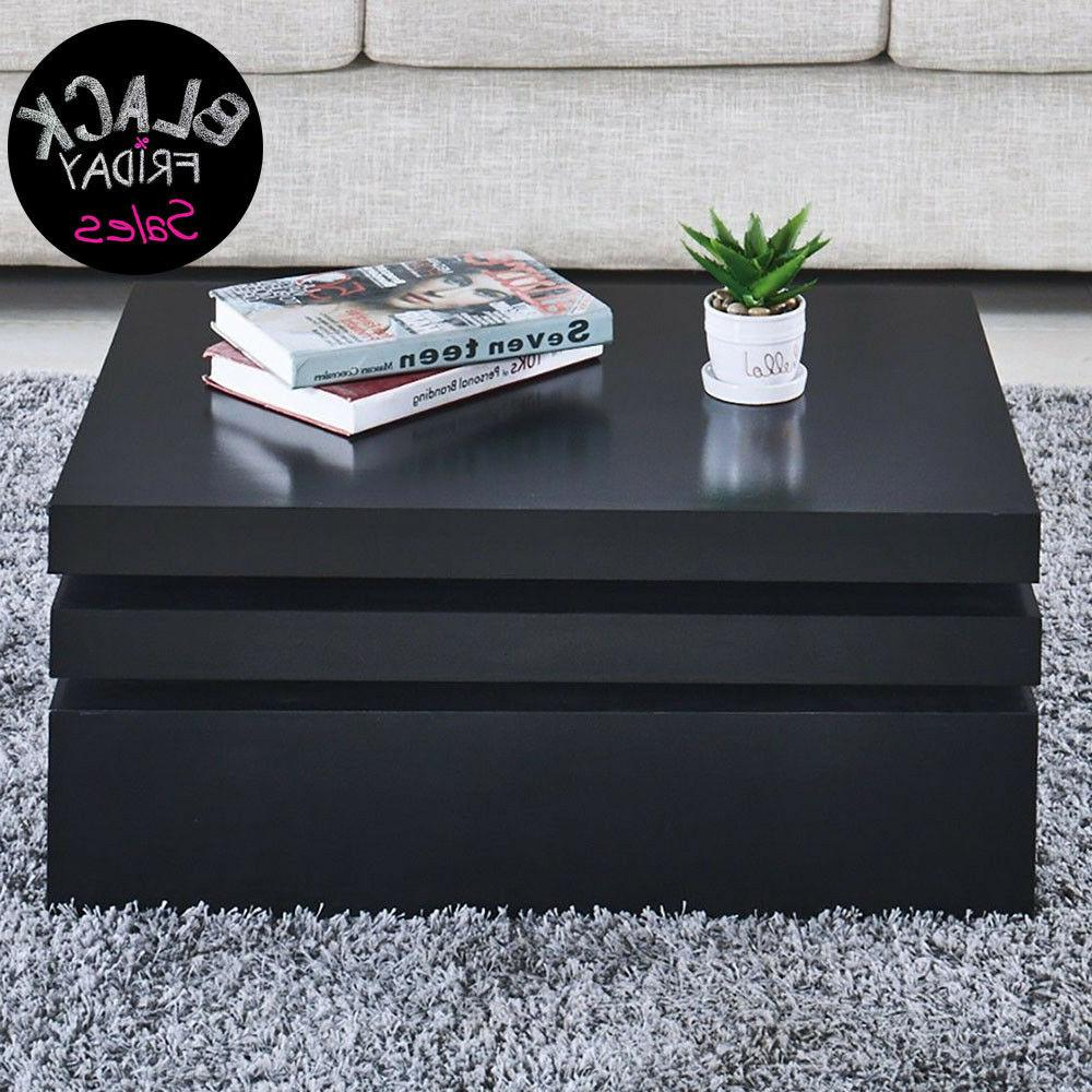 black square coffee table rotating contemporary modern