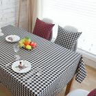 Black White Lattice Bar Coffee Table Cotton Linen Cloth Cove