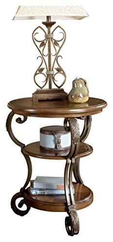Medium Brown Chairside End Table by Ashley Furniture