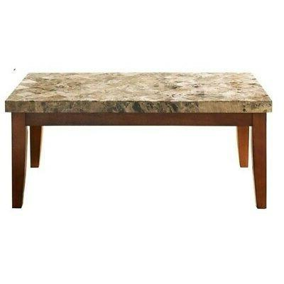 Emerald Home Coffee Wood Top and Metal