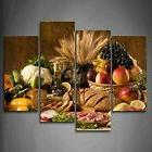 Brown Food Fruits Picture Art Canvas Prints Wall Home Kitch