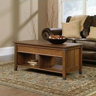 carson forge lift top coffee table in