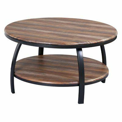 Emerald Home Carson Natural Wood and Soft Black 35 in. Coffe