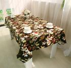 Chinese Bird Brown Bar Coffee Table 100% Cotton Cloth Cover
