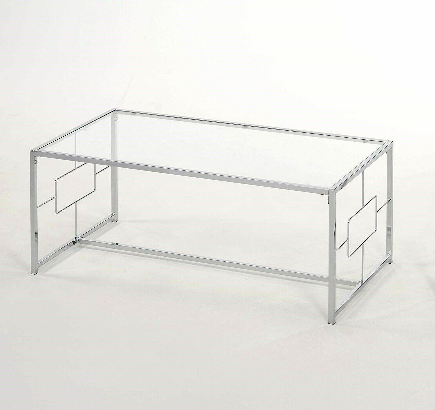 1PerfectChoice Chrome with Glass Table