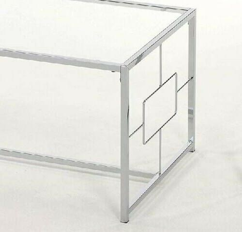 1PerfectChoice Chrome Coffee with Glass Table