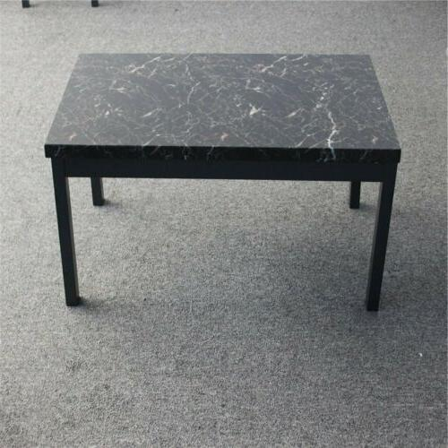 Coffee End Table Pieces Modern Faux Marble Room Furniture
