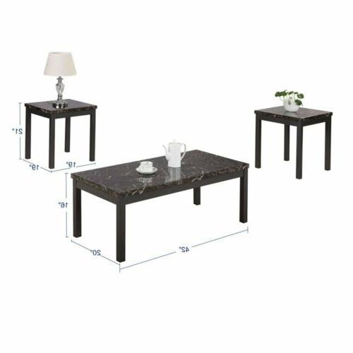 coffee end table 3 pieces set modern