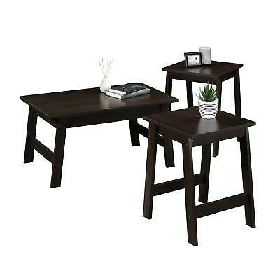 Coffee 2 End Side Tables Set Modern Furniture Piece