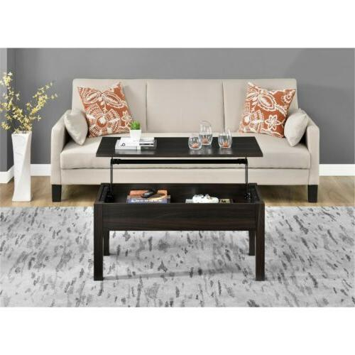Coffee Table Espresso Lift Top Living Room Furniture Modern