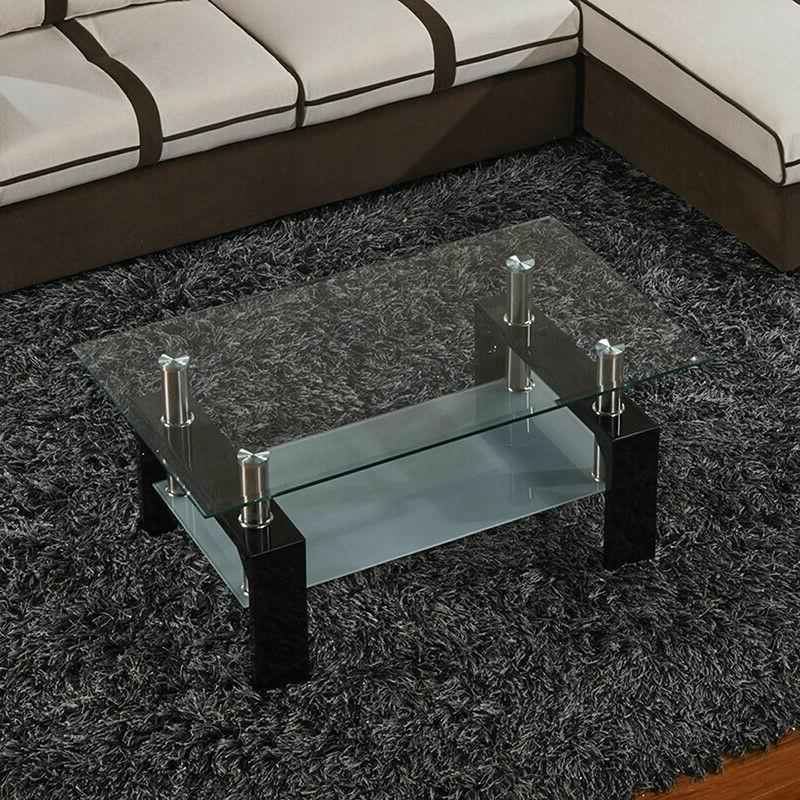 Black Glass Modern Room Furniture