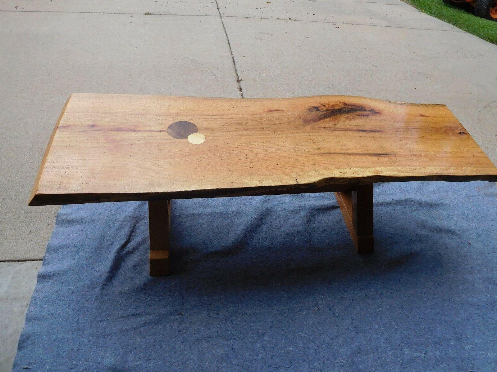 Coffee Table, Handcrafted Red Oak Natural edge, new size 2""
