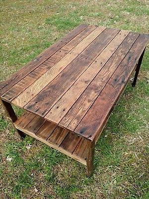 Coffee Table- Reclaimed Pallet Wood- UpCycled - Handmade-Vin