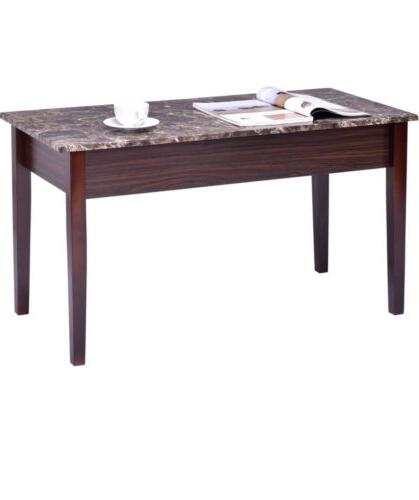 Coffee Table Home Faux Marble Lift Rectangular Cocktail