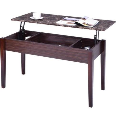Coffee Table Marble Lift Top Rectangular Cocktail Tangkula