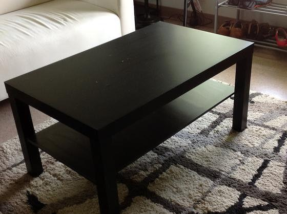 Coffee Table Lack Black Brown TV Stand Laptop IKEA Living Be