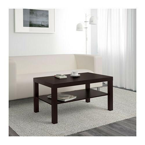 coffee table lack side end black brown