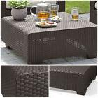 Coffee Table Outdoor Patio Resin Plastic Wicker UV Protectio