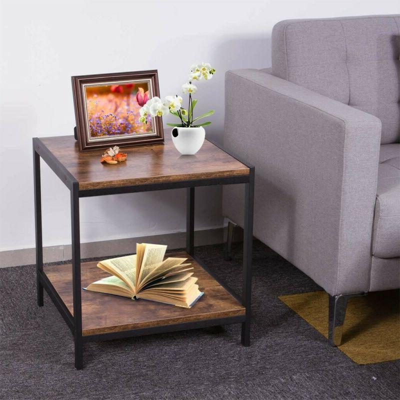 2 Coffee Storage Shelves Sofa Couch Nightstand