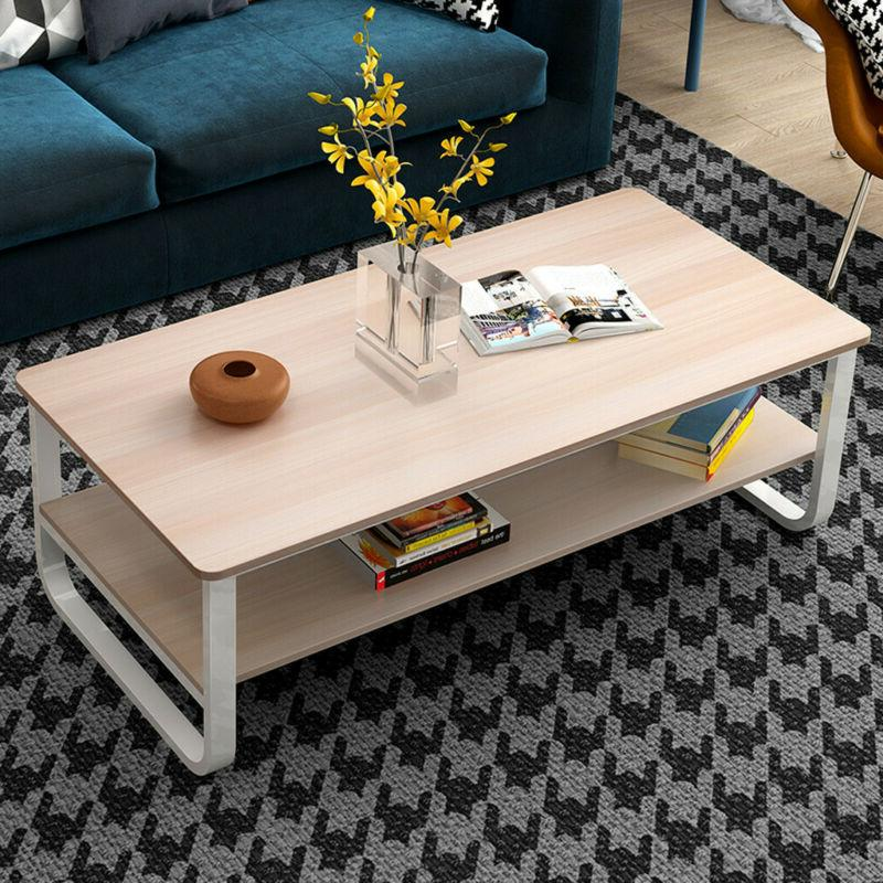 Simple Modern Living Room Double Coffee Table 47*23*16Inch W