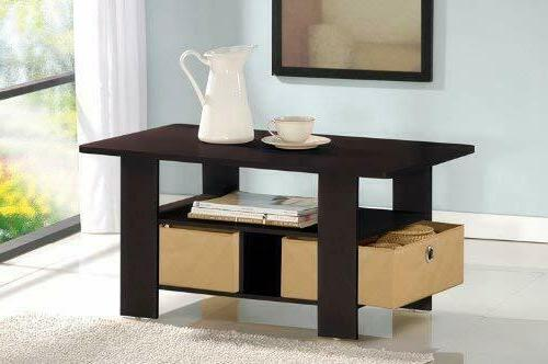 Coffee Table with Espresso/Brown 11158EX/BR FREE SHIPPING