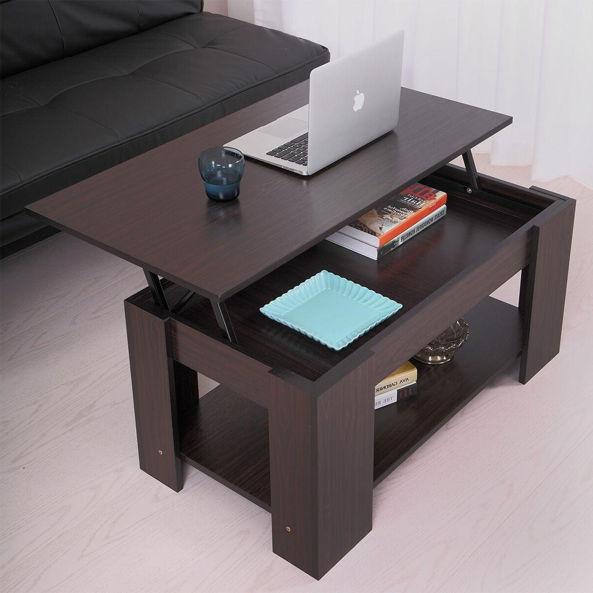 coffee table with lift top with storage