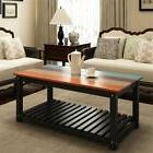 """Coffee Table Wood 48"""" 4-Color Finish Real Solid Wood Living"""