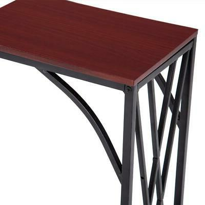 Coffee Table End TV Lap Snack Modern C-shaped