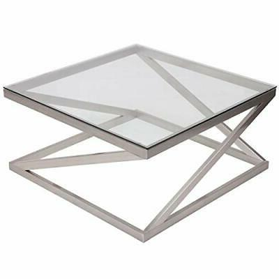 coylin square glass coffee cocktail table
