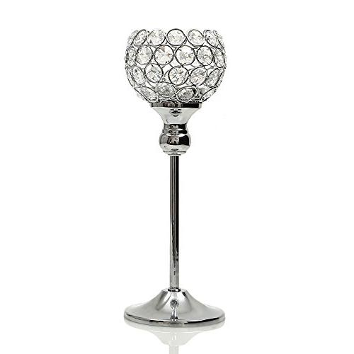 crystal pillars candle holders