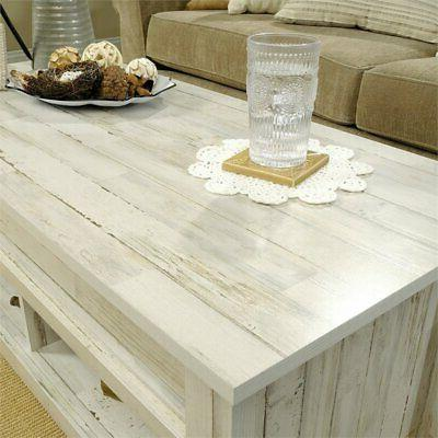 Sauder Top Table in White Plank