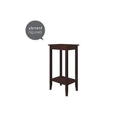 DHP Rosewood Tall End Table Coffee End Table