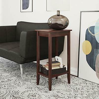 dhp rosewood tall end table coffee end