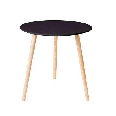 Three Legs Modern Coffee End Side Table Pine Wood round Tea