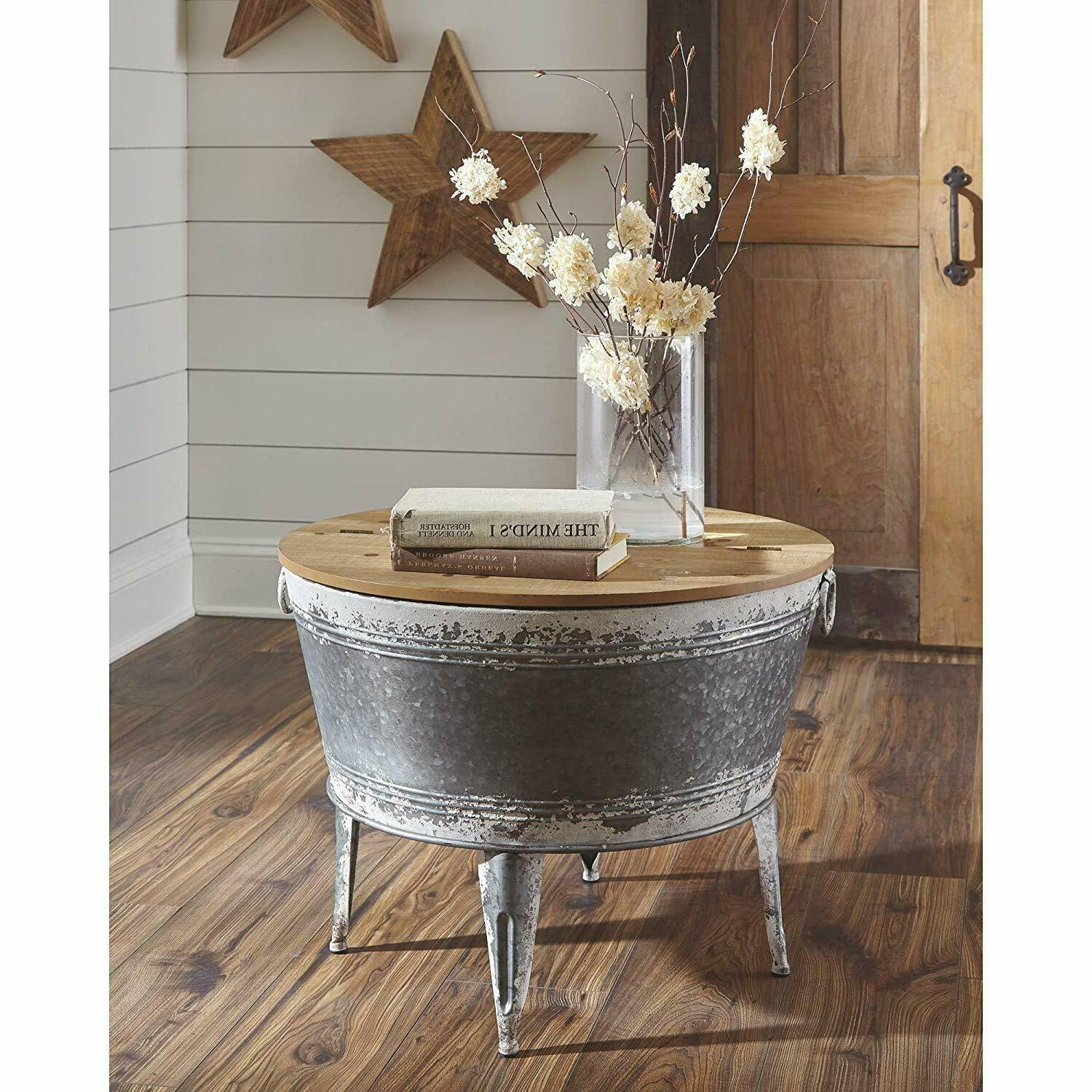 farmhouse industrial storage trunk chest living room