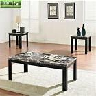 faux marble table 2 end tables coffee