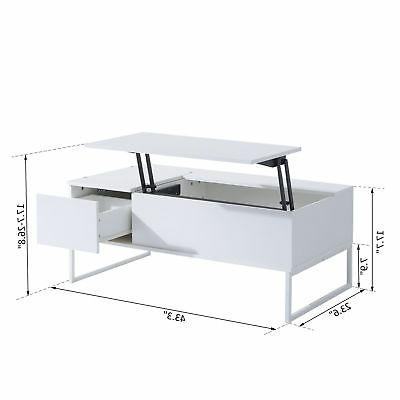 Foldable coffee Table Convertible Desk