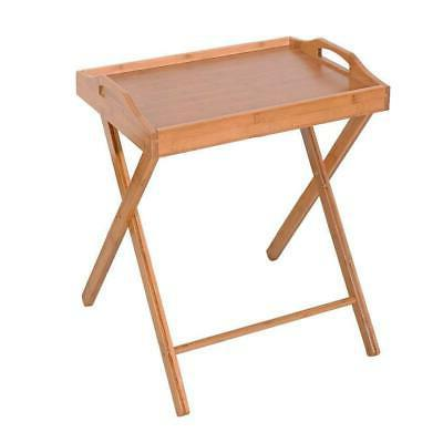 Folding TV Tray Table Stand Eating Snack Dinner Coffee Woode