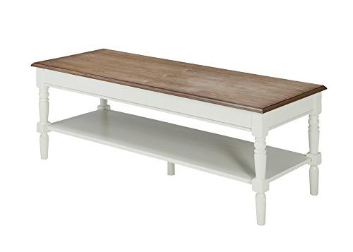 Convenience French Coffee Table, Driftwood / White