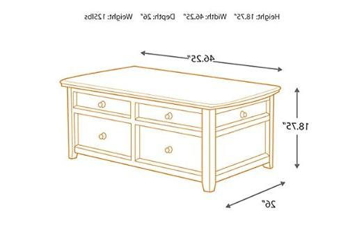 Ashley Signature Design - Carlyle Lift Coffee Table - Drawers Contemporary -