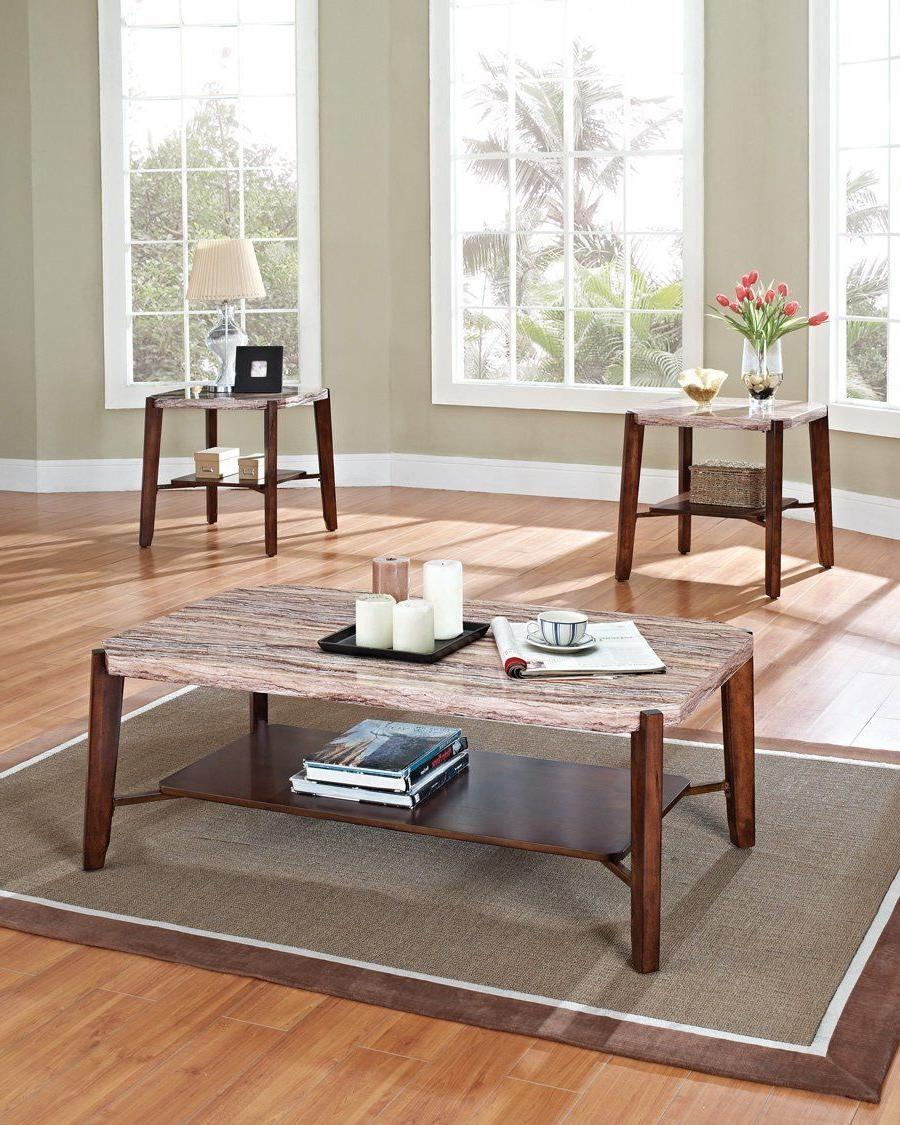 Acme Furniture 80085 Nadav 3Pc Pk Coffee/End Table Table Set