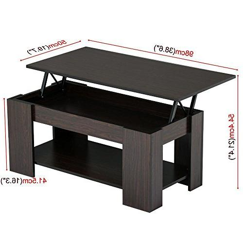 Yaheetech & Coffee Table Compartment