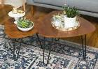 WE Furniture Hairpin Leg Wood Nesting Coffee Table Set - Wal