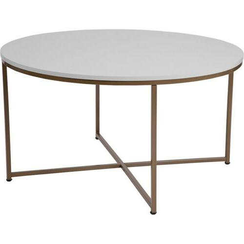 hampstead collection white coffee table with matte