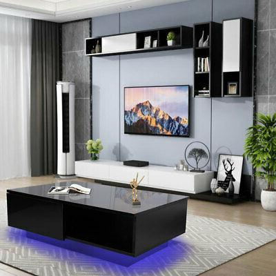 Modern Style Coffee Table Living Room Storage Table w/ Drawe